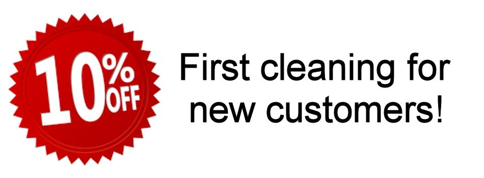 10% off first cleaning for new customers